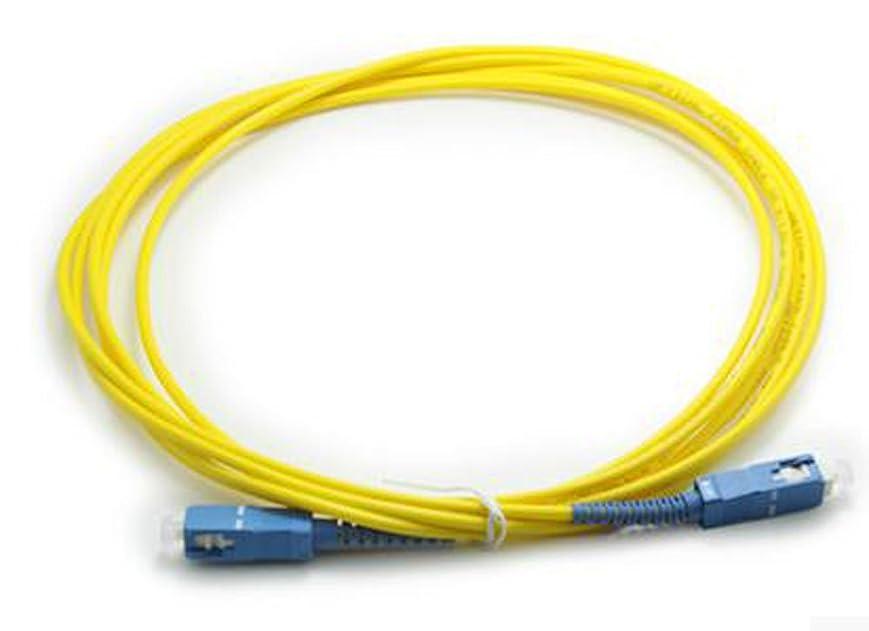 すみませんタイプライター意見N-hilfe 光ファイバー 延長ケーブル sc-sc (黄色 30m)