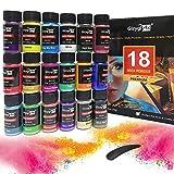Colori per Resina Epossidica, Colorante Candela 18 Colori Pigmenti in Polvere di Mica Metallica Naturale per Coloranti Sapone, Kit Slime, pigmenti in polvere di mica e polvere scintillante in colori