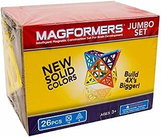 Magformers Jumbo Set (26-pieces) Large Magnetic Building Blocks, Educational Magnetic Tiles Kit , Magnetic Construction STEM Toy Set