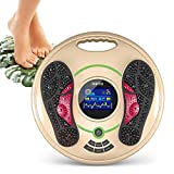 【The latest upgrade in 2021】The foot circulation stimulator is suitable for whole body treatment. The circulation device comes with 4 TENS pads, which can be used at home or on office. It has 25 different massage methods and 1-99 intensity levels. Th...