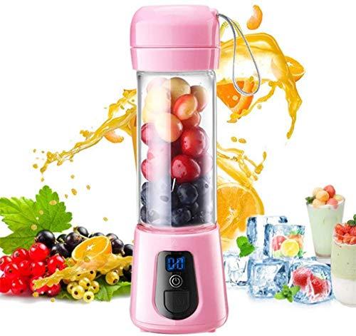8bayfa USB-elektrische juicer, multifunctioneel, draagbaar fruitdiafragma, handvat cordless sapmixer met roestvrij stalen messen voor gezonde sappen en smoothies, A