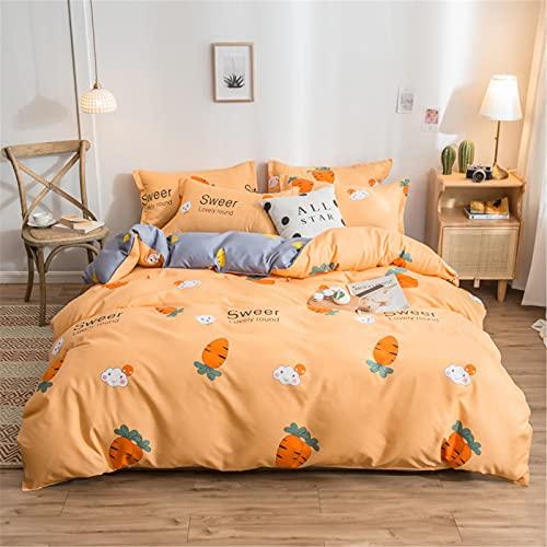 YYSZM Textiles para El Hogar Funda Nórdica Ropa De Cama Algodón Cómodo Y Agradable para La Piel Juego De 4 Piezas 180x220cm