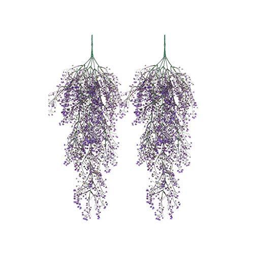 Wffo - Guirnalda de Flores Artificiales de Seda para Colgar en el hogar, jardín, decoración de Boda