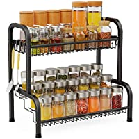 F-color 2 Tier 201 Stainless Steel Standing Spice Organizer