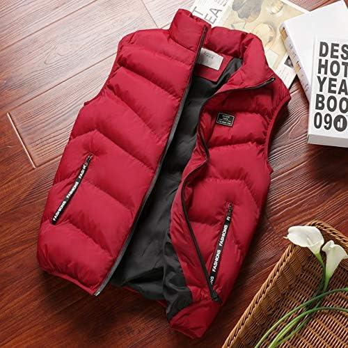 LYLY Vest Women Mens Jacket Sleeveless Vest Spring Thermal Soft Vests Casual Coats Male Cotton Men's Vest Men Thicken Waistcoat Coats Vest Warm (Color : Burgundy, Size : M)