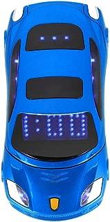 Student Flip Phone for Ferrari Car-Shape Phone Flip Keypad Car Model Mobile Phone GSM Cell Phone 100-240V, Support SMS, MP3, Camera, Video Playback, Recording, Radio, Bluetooth, Calculator(Blue)