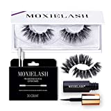 MoxieLash - Boujie Kit - Mini Magnetic Eyeliner, Set of Boujie Lashes & Makeup Removers - 5 Magnet Lash Band - No Glue & Mess Free - Fast & Easy Application