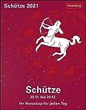Schütze Sternzeichenkalender 2021 - Tagesabreißkalender mit ausführlichem Tageshoroskop und Zitaten - Tischkalender zum Aufstellen oder Aufhängen - Format 11 x 14 cm: Ihr Horoskop für jeden Tag