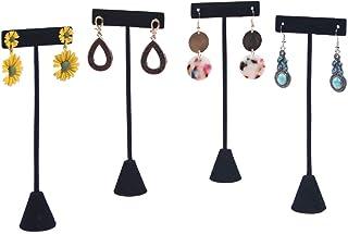 "Coward 4 Pcs/Set 6.5"" T-Shape Earring Stand,Jewelry Organizer Stud Earring Display Holder (6.5"" H)"