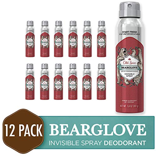 Old Spice Antiperspirant and Deodorant for Men, Invisible Spray, Bearglove, Apple, Citrus, & Spice Scent, 3.8 Oz (Pack of 12)