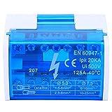 morsettiera scatola di distribuzione su guida din connettore universale compatto per cablaggio con coperchio antipolvere trasparente 207 per quadri elettrici