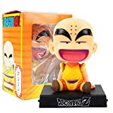 VNNY 12 cm Anime Dragon Ball Z Son Goku Krillin Bobble Head Dragonball Dolls Decorazione Brinquedos PVC Figure Giocattoli di Modello-Un