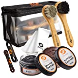 Best Shoe Polish Kits - OrthoStep 8pc Black and Brown Shoe/Boot Cleaning Kit Review