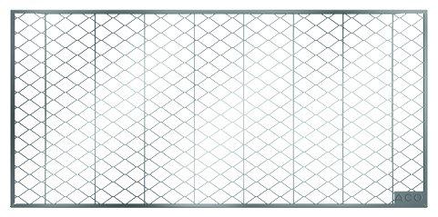 ACO 100 cm breites Lichtschachtrost begehbar Streckmetallrost aus verzinktem Stahl