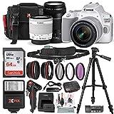 Canon EOS Rebel SL3 DSLR Digital Camera (White) with EF 75-300mm f/4-5.6 III Lens + 64GB + Cases + Tripods + Premium Accessory Bundle