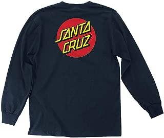 NHS Santa Cruz Classic Dot Mens Long Sleeve T-Shirts (Navy, Large)