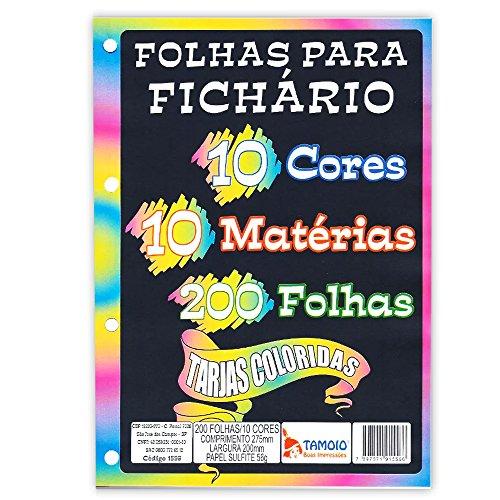 Bloco para Fichário 200 Folhas 10 Cores - Tamoio