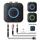 1Mii Bluetooth レシーバー オーディオ ブルートゥース 受信機 AAC APT-X 3D 対応 小型 ワイヤレス 伝送距離遠い ver5.0 低延遅 高音質 再生 RCA AUX 3.5mmステレオミニプラグ接続 ステレオシステム スピーカー 車載 カーステレオ 等に適用 充電しながら使用可 B06LL