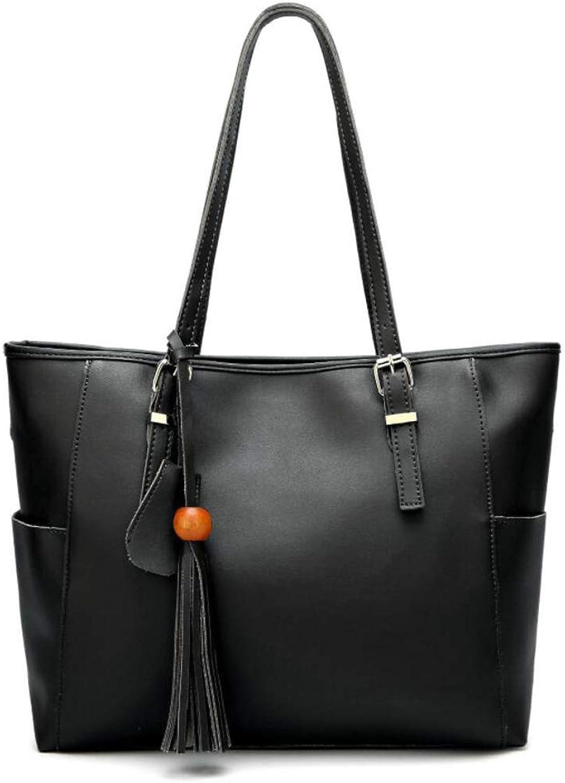 LBYMYB Damenhandtasche Retro PU PU PU Öl Wachs Leder Schultertasche Top Griff Outdoor Satchel 34x11x32cm Handtasche (Farbe   Schwarz, größe   One Größe) B07Q6X7GF5  Klassisch e5b3fd