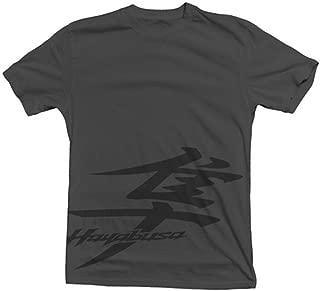 GSX1300R Hayabusa Kanji Logo Stealth Short Sleeve T-Shirt Grey