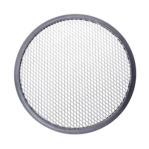LQW HOME Grillzubehör Mesh Grill Pizza-Bildschirm Runder Backfächer-Zubehör Netto-Küchen-Tools-Backer Kit-Formen für Pizza, Form Pizza, Pizza-Gitter-Tablett Zubehör (Color : 9 inch)