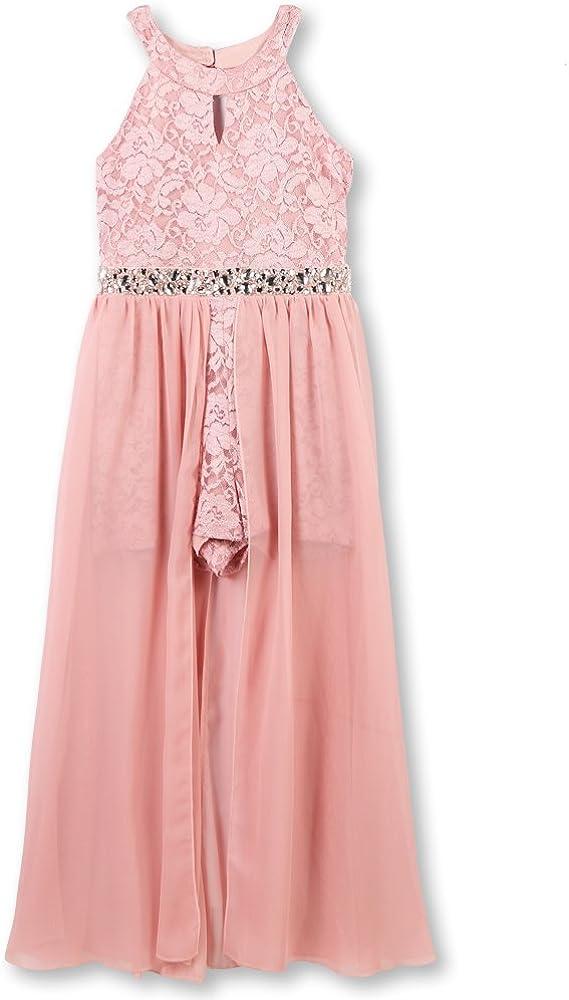 Speechless Girls' High Neck Maxi Romper Dress