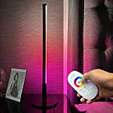 TACAHE Color Changing Table Lamp RGB Gaming Desk Lamp by Remote Control Dimmable LED Table Corner Lamp Minimalist Modern Lamp for Gaming Desk, Beside Table 20.8' 7W - Black