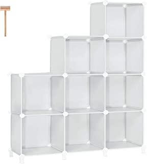 TomCare Cube Storage 9-Cube Bookshelf Storage Shelves Cube Organizer Closet Organizer Shelving Plastic Bookcase Book Shelf...
