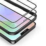 BANNIO 2 Pezzi Vetro Temperato Compatibile con iPhone 12/iPhone 12 Pro,Curva 3D Full Screen Pellicola Protettiva Compatibile con iPhone 12/12 Pro,Copertura Totale Protezione Schermo,Anti-impronte