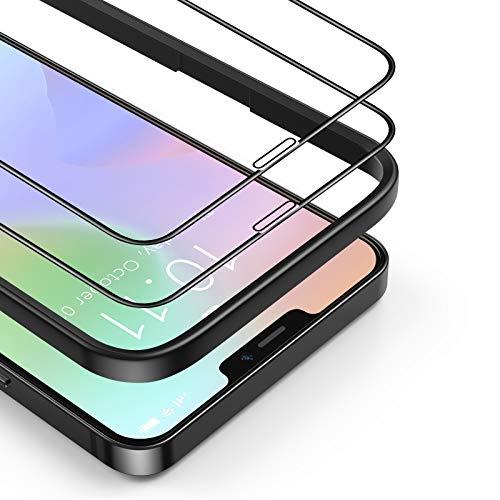 BANNIO Protector de Pantalla Compatible con iPhone 12/iPhone 12 Pro,[2 Unidades] 3D...
