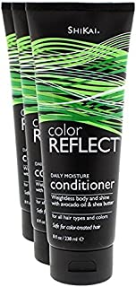 Shikai - Color Reflect Daily Moisture Conditioner, Enhances and Protects Color Treated Hair (Unscented, 8 Ounces, Pack of 3)