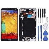 Parti di ricambio Schermo LCD e digitalizzatore Assemblaggio completo con frame e tasti laterali (materiale TFT) for Galaxy Note 3 / N9005 (versione 3G) (nero) Ricambi per Samsung ( Colore : Black )