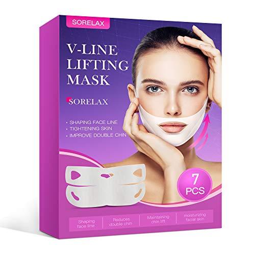 V Line Lifting Mask Chin Up Patch (7pcs),Face Lift Mask Tape,V Shaped...