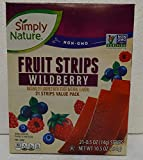 Simply Nature NON-GMO Fruit Strips Raspberry 21 Strips Value Pack