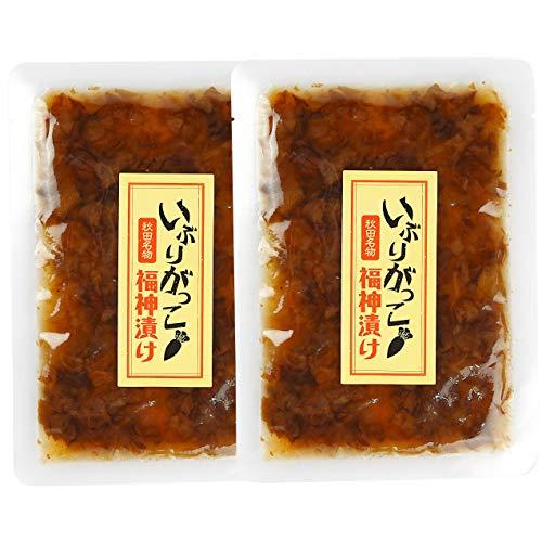三吉フーズ 秋田名物 いぶりがっこ 福神漬け 漬物 100g 2袋