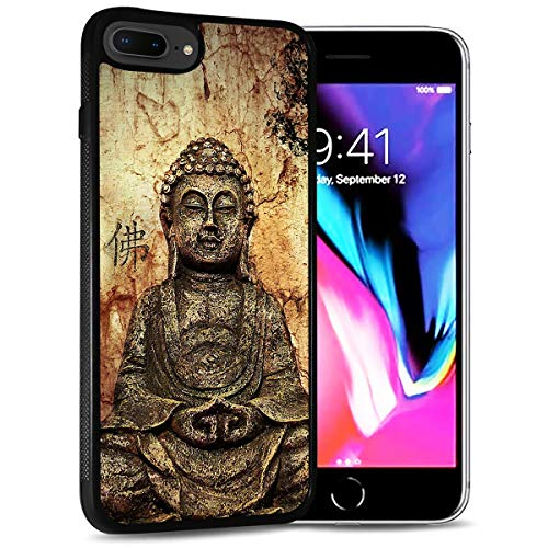 for iPhone 8 Plus, iPhone 7 Plus, Durable Protective Soft Back Case Phone Cover, HOT12125 Buddha