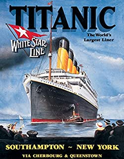 Desperate Enterprises Titanic - White Star Tin Sign, 12.5