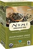 Numi Organic Tea Gunpowder Green, 18 Count Box of Tea Bags (Pack of 3)...
