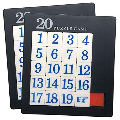 プラスチックスライド19数字パズル - 2パック