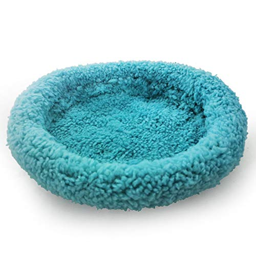 PINBinyee Hamster Bed,Round Velvet Warm Sleep Mat Pad for Hamster/Hedgehog/Squirrel/Mice/Rats and Other Small Animals Blue L