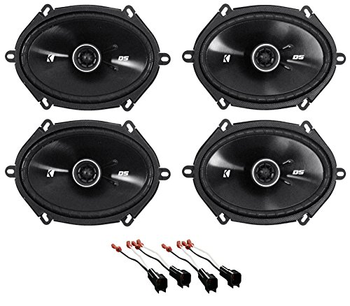 """Kicker 6x8"""" Front+Rear Factory Speaker Replacement Kit For 2004-2006 Ford F-150"""