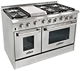 Thor Kitchen HRG4804U 6 Burner Gas Range with Double Oven