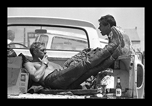 Historische Foto Kollektion 8x 10Foto gerahmt Steve _ McQueen _ BUD _ EKINS auf hohe qquality Fidschi Film Papier