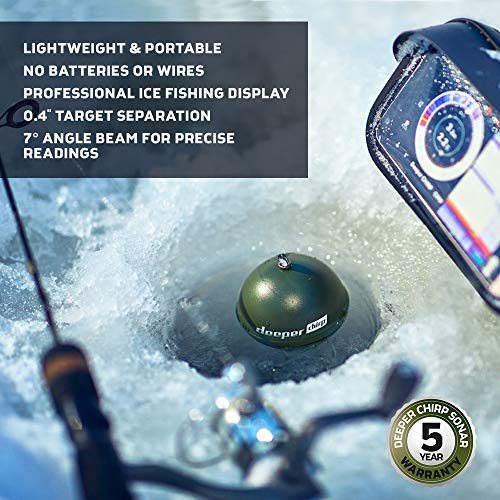 Deeper Chirp Smart Sonar Castable and Portable WiFi Fish Finder for Kayaks and Boats and on Shore Ice Fishing Wireless Fishfinder