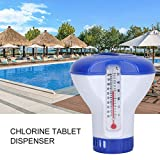 haodene Dosierschwimmer Pool Thermometer Schwimmender 5 Zoll Pool-Chlorspender Schwimmbad Chlor...