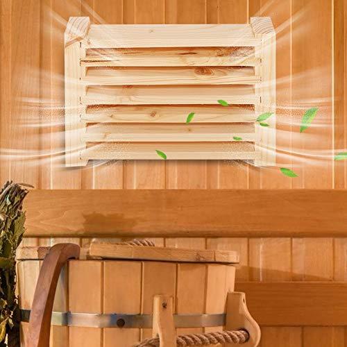 Velaurs Saunazubehör Saunajalousien, multifunktionales Saunaraumzubehör Entlüftungsöffnung, Wandentlüftung für das Home SPA Dampfbad Saunaraum