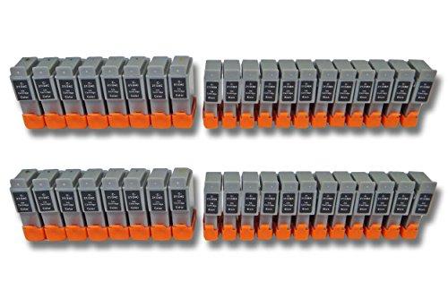 vhbw 40x Cartuchos para Impresora Cartuchos de Tinta Set para Canon SmartBase BJC-2100, BJC-2115, BJC-2120 por BCI-24BK, BCI-24C.