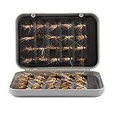 Yivibe Juego de señuelos de Pesca de 40 Piezas, Anzuelo de Pesca con Mosca para Mosquitos, señuelo de Pesca con Mosca Artificial, señuelo de Pesca de Mosquitos, para Pescar