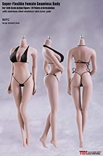 OBEST S07C Super-Flexible Female Seamless Doll Body 1/6 Figure 28 Points of Artculation with Stainless Steel Skeleton(No -...