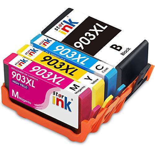 Starink 903XL Cartucce Compatibile per HP 903 903XL Cartucce d'inchiostro per HP OfficeJet pro 6950 6970 6960 stampante (1 Nero,1 Ciano,1 Magenta,1 Giallo) Multipack Confezione da 4